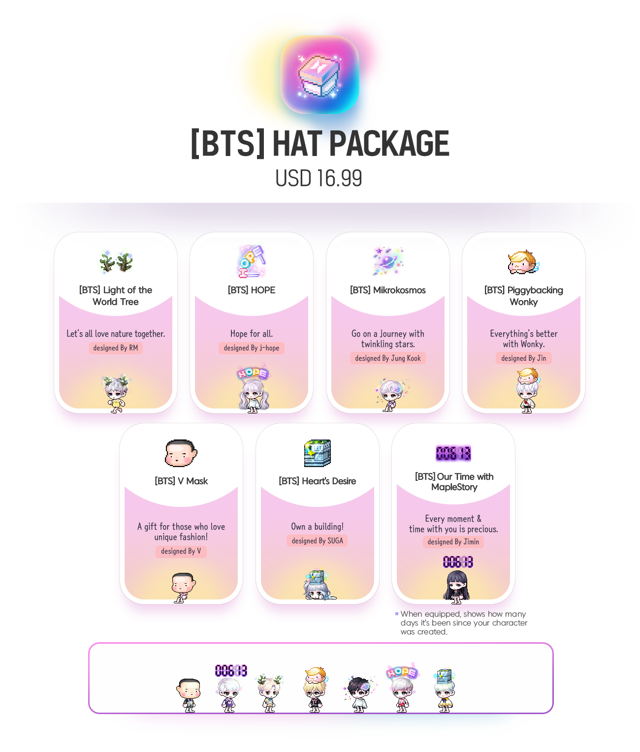[BTS] Hat Package USD 16.99